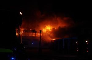 Brand i Mios gamla lokaler Listerby