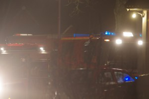 Brand i traktor i lada Flakulla