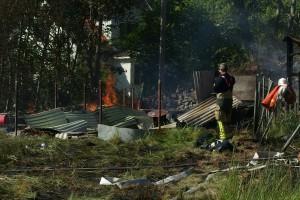 Brand på Aspö