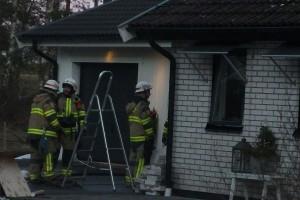 Brand i husvägg i Vinberga