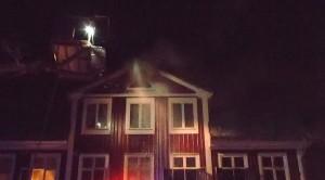 Brand i träfastighet i centrala Ronneby