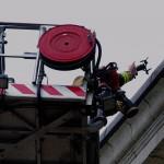 Drönare på Fredrikskyrkans tak