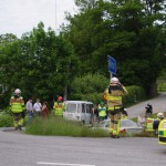 Olycka flera fordon Höryda