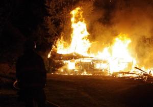 Ladugårdsbrand Gärestad