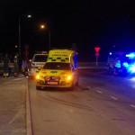 Polis och ambulans insats Lyckebyvägen