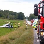 Voltad bil lv 122 mellan Fridlevstad o Tving
