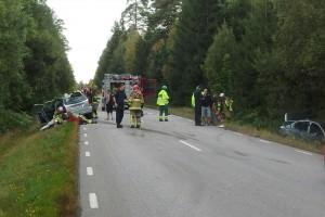 Trafikolycka lv 697 Nävragöl Tving