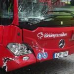 Buss personbil trafikolycka Landbrogatan