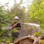 Skogsbrand kraftverket S Långgöl Ronneby