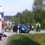 Flerbilsolycka i Hultarondellen