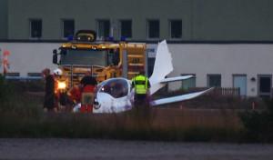 Flygplans haveri Ronneby flygplats