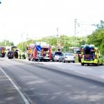 Trafikolycka Gullbernavägen järnvägskorsningen