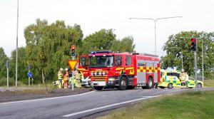 Trafikolycka Sunnavägen Gamla infartsvägen