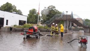 Översvämning torget Jämjö